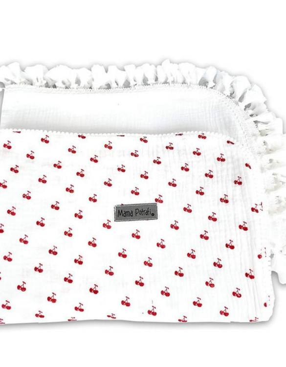 A versatile item with a multitude of uses, the Muslin Swaddle 2 Pack Retro Cherry will be your little one's favorite blanket. And it's looking very beautiful and stylish! This baby swaddle muslin blanket is a perfect gift for an expecting mama!