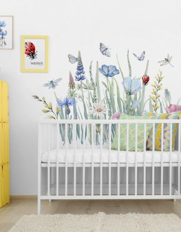 A beautiful scene for children's rooms and nurseries, the Natura Meadow Children's Wall Sticker is the perfect addition to any empty space (like walls or furniture). These wall stickers provide a flexible and cost-effective way to decorate your home.