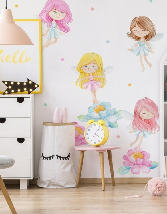 A beautiful scene for children's rooms and nurseries, the Pastel Fairies Children's Wall Sticker is the perfect addition to any empty space (like walls or furniture). These wall stickers provide a flexible and cost-effective way to decorate your home.