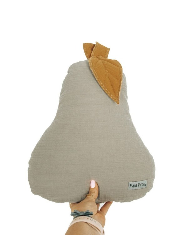 Perfect for any little one or teenager's bedroom, the Pear-shaped Pillow Sand is great for finishing up your little one's playroom. Your kids will love it! This children's cushion is super soft and super cute. A beautiful addition to any nursery or kids' room.