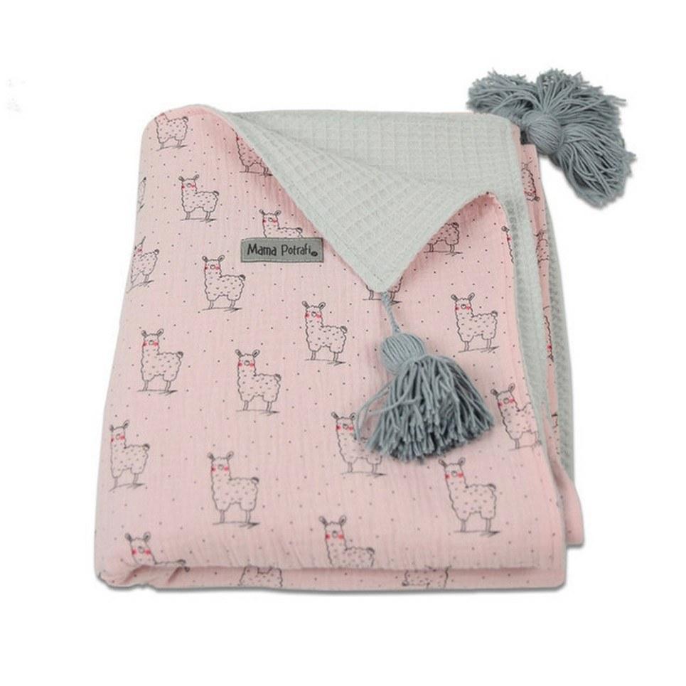 Pink Llama Soft Baby Blanket