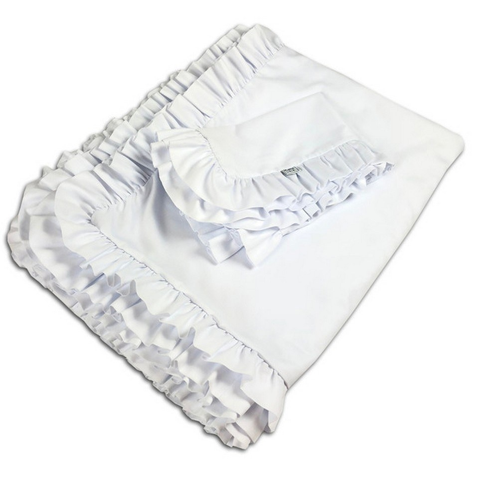 Ruffle Bedding Set White