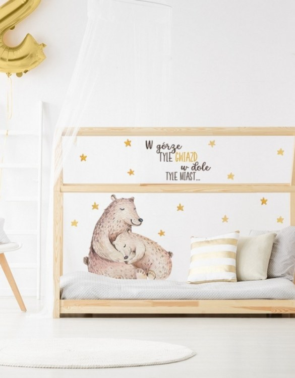 A beautiful scene for children's rooms and nurseries, the Sleeping Bears Children's Wall Sticker is the perfect addition to any empty space (like walls or furniture). These wall stickers provide a flexible and cost-effective way to decorate your home.