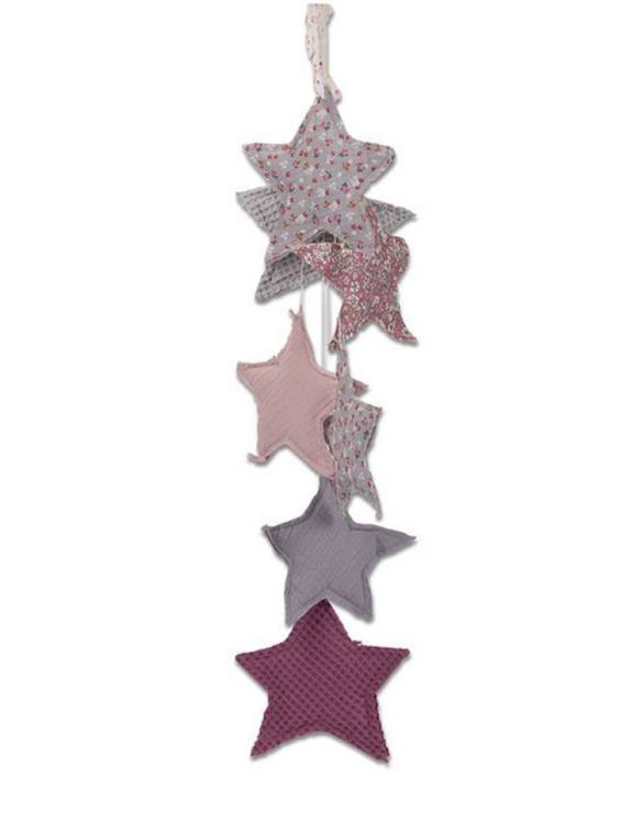 The ideal gift for a new baby or a Christening present, the Star Garland Blueberry Flowers makes a fab addition to a party or a little one's room. A gentle garland will decorate your nursery room and contribute to the development of the baby.