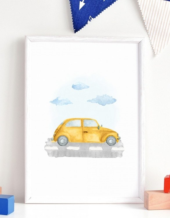 A unique keepsake that will create enchanting memories, the Tarbus Children's Poster is a really unique and eyecatching print that is loved by kids and adults. Encourage their wild side with this fun print. Designed in a playful font, they will make a great addition to any nursery, child's room, or playroom.