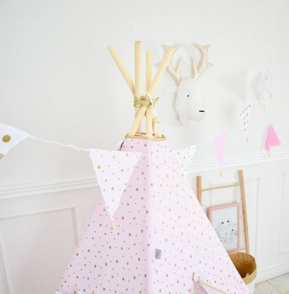 Triangle Bunting Pink & Gold