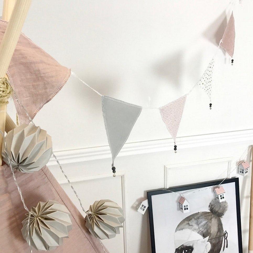 Triangle Bunting Powder Pink