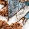The ideal gift for a new baby or a Christening present, the Triangle Bunting Toffee makes a fab addition to a party or a little one's room. A gentle garland will decorate your nursery room and contribute to the development of the baby.