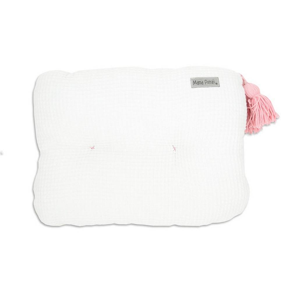Waffle White Pillow