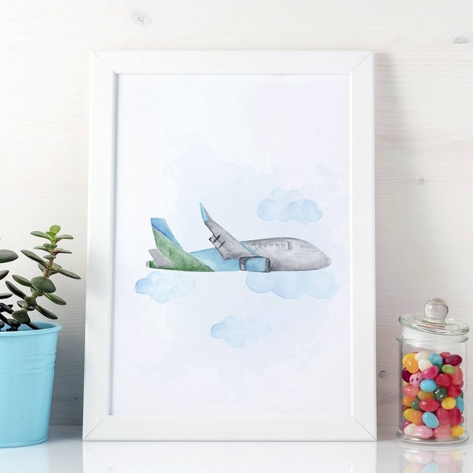 Cute Plane Children's Poster