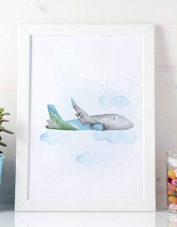 A unique keepsake that will create enchanting memories, the Cute Plane Children's Poster is a really unique and eyecatching print that is loved by kids and adults. Encourage their wild side with this fun print. Designed in a playful font, they will make a great addition to any nursery, child's room, or playroom.
