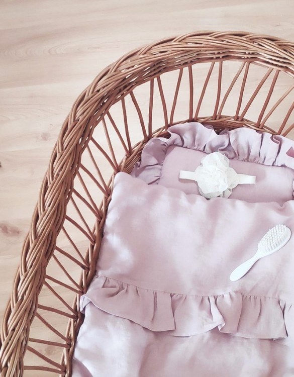 Perfect as a newborn pillow, the Dusty Pink Baby Pillow With Ruffle is a great addition for a nursery, children's room, baby crib, or kid's playroom. It makes the perfect gift!