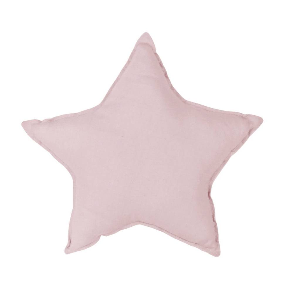Dusty Pink Linen Star Pillow
