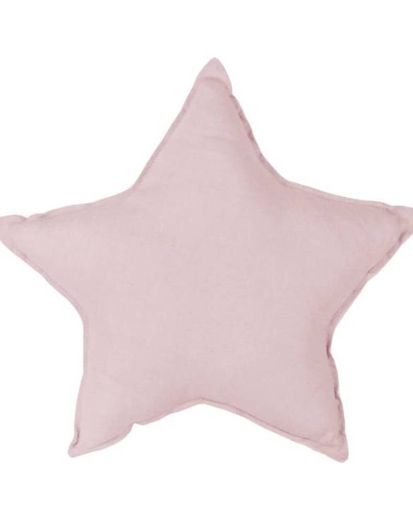 Perfect as a newborn pillow, the Dusty Pink Linen Star Pillow is a great addition for a nursery, children's room, baby crib, or kid's playroom. It makes the perfect gift!