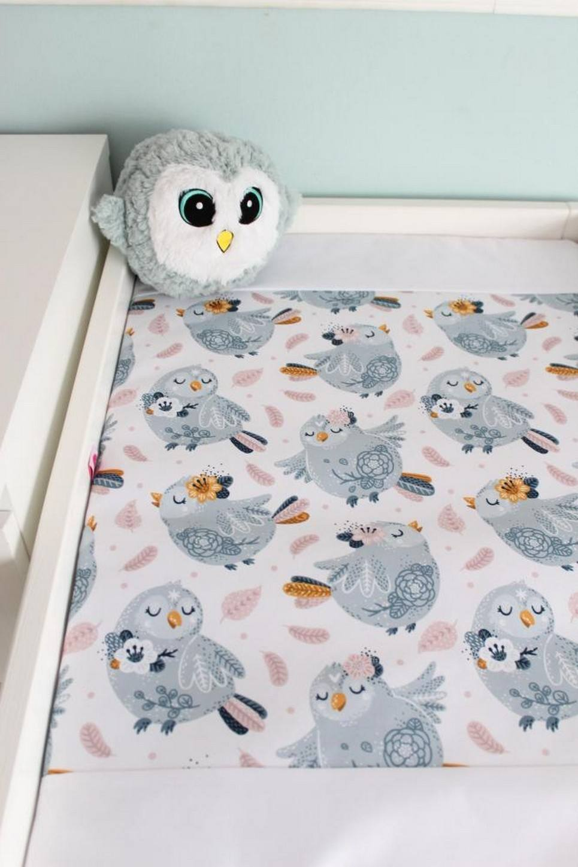 Gray Birds Waterproof Winding Mat
