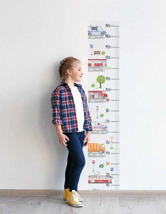 A real eye-catcher in every child's room, the Moto Child Growth Chart is the perfect way to follow your child's development and growth. Bright and colourful, this height chart wall sticker will look good in nurseries, bedrooms, or playrooms.