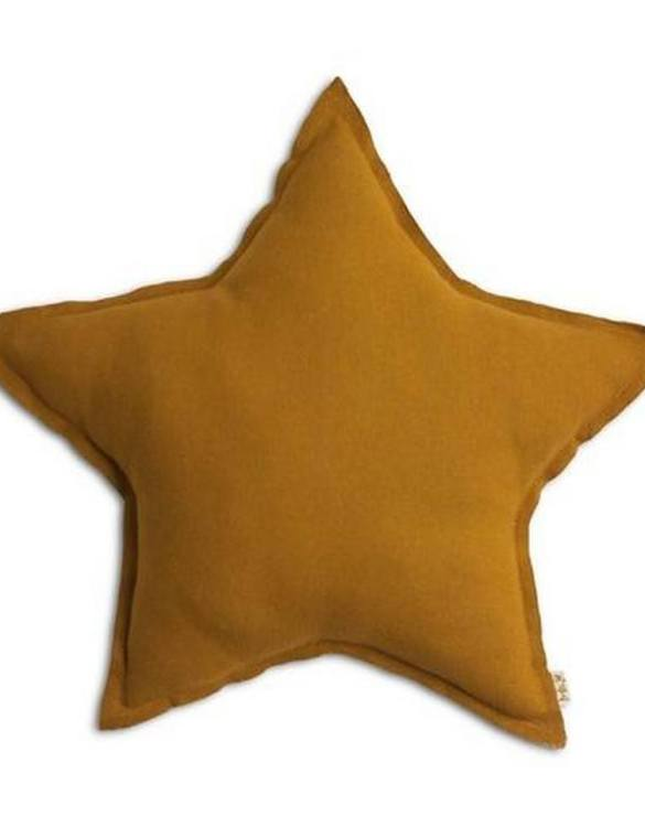 Perfect as a newborn pillow, the Mustard Linen Star Pillow is a great addition for a nursery, children's room, baby crib, or kid's playroom. It makes the perfect gift!