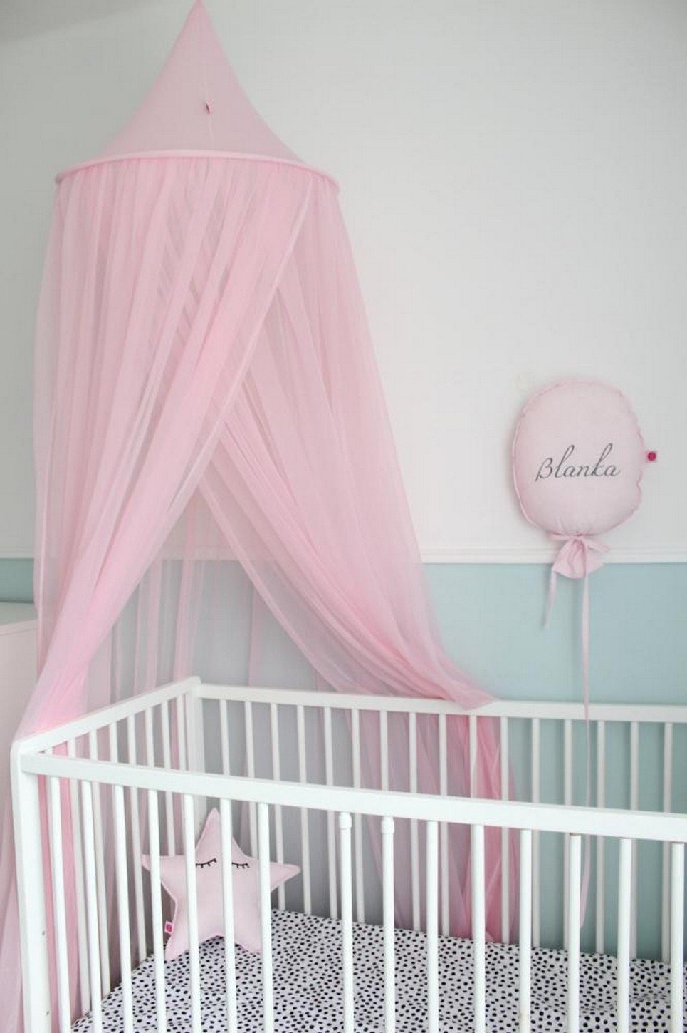 Pink Flowing Children's Bed Canopy