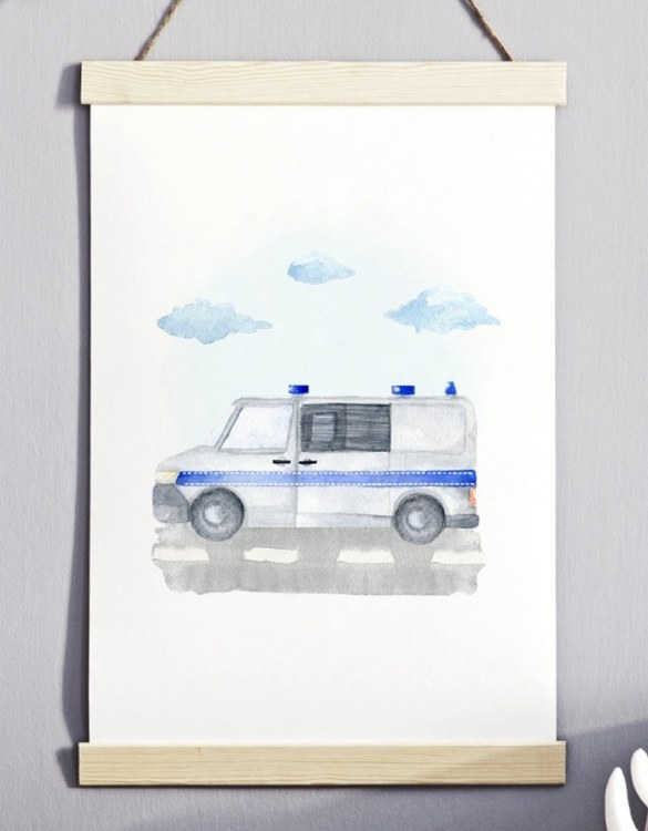 A unique keepsake that will create enchanting memories, the Police Children's Poster is a really unique and eyecatching print that is loved by kids and adults. Encourage their wild side with this fun print. Designed in a playful font, they will make a great addition to any nursery, child's room, or playroom.