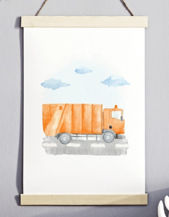 A unique keepsake that will create enchanting memories, the Trucker Children's Poster is a really unique and eyecatching print that is loved by kids and adults. Encourage their wild side with this fun print. Designed in a playful font, they will make a great addition to any nursery, child's room, or playroom.