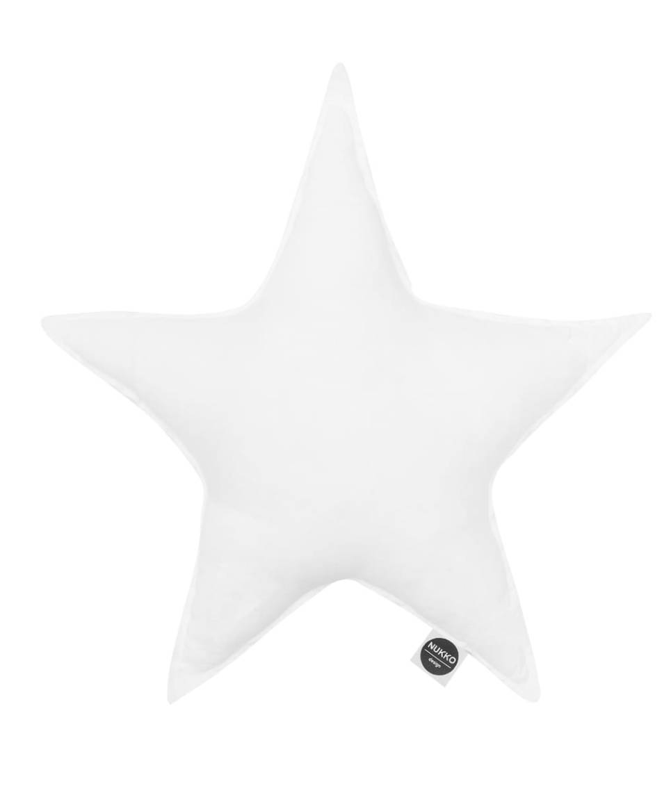 White Linen Star Pillow