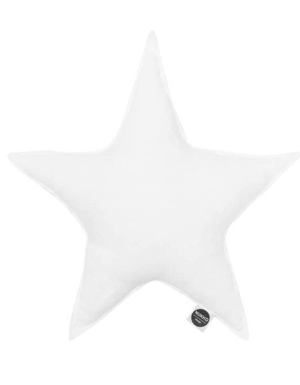 Perfect as a newborn pillow, the White Linen Star Pillow is a great addition for a nursery, children's room, baby crib, or kid's playroom. It makes the perfect gift!