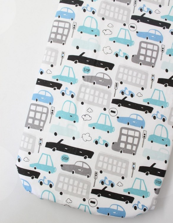 Perfect as a gender-neutral choice, the Cars Fitted Crib Sheet will fit any crib bed or next to me pods. This fitted cot sheet is a perfect addition to spruce up your little bub's nursery.