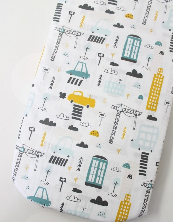 Perfect as a gender-neutral choice, the City Fitted Crib Sheet will fit any crib bed or next to me pods. This fitted cot sheet is a perfect addition to spruce up your little bub's nursery.