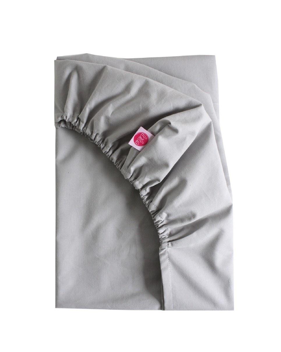 Dark Gray Fitted Crib Sheet