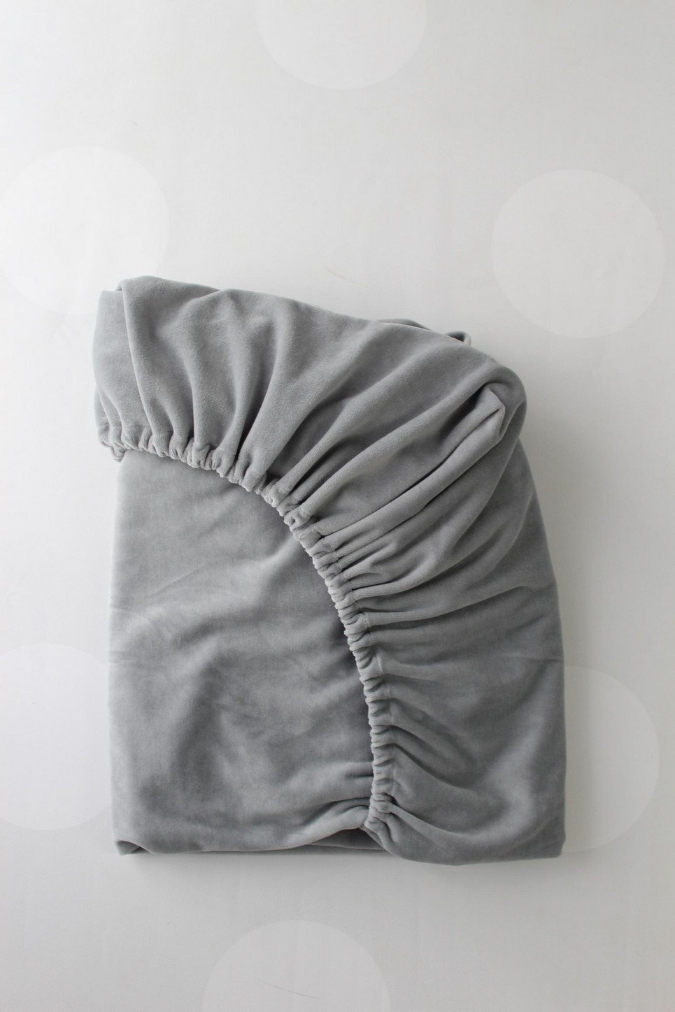 Grey Cotton Velour Fitted Crib Sheet