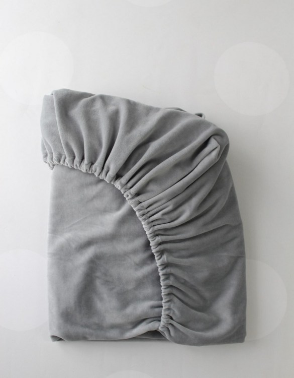 Perfect as a gender-neutral choice, the Grey Cotton Velour Fitted Crib Sheet will fit any crib bed or next to me pods. This fitted cot sheet is a perfect addition to spruce up your little bub's nursery.