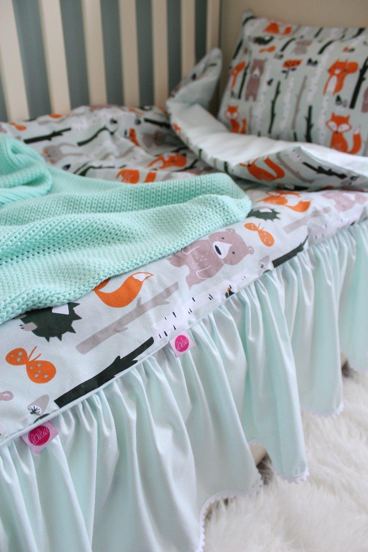 Mint Crib Bed Skirt