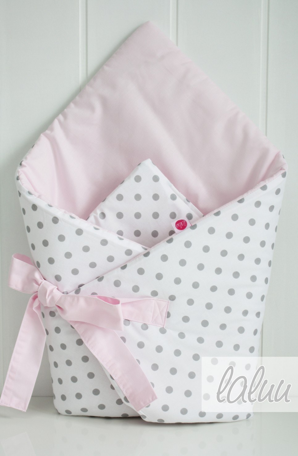 Polka Dots And Light Pink Baby Horn With a Frill