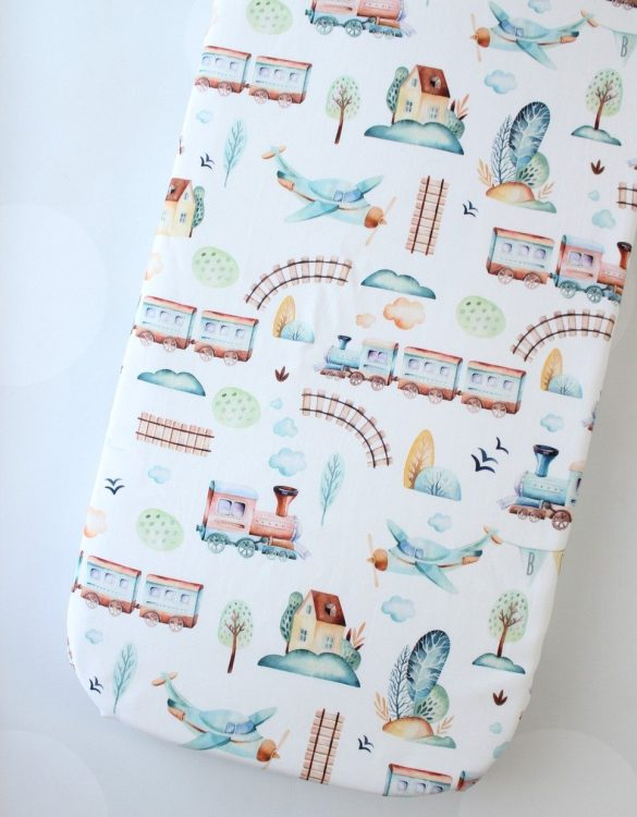 Perfect as a gender-neutral choice, the Railway Fitted Crib Sheet will fit any crib bed or next to me pods. This fitted cot sheet is a perfect addition to spruce up your little bub's nursery.