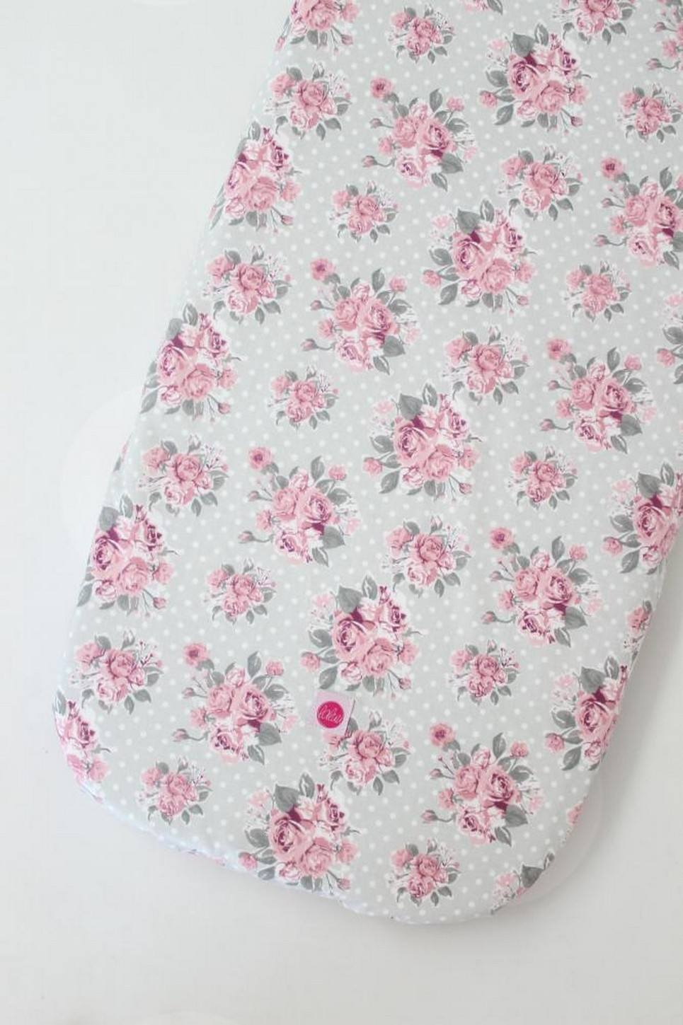 Roses on Mint Dots Fitted Crib Sheet
