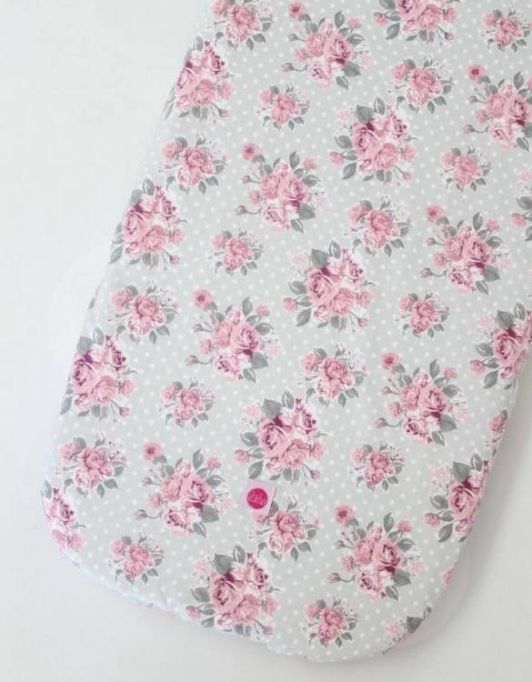Perfect as a gender-neutral choice, the Roses on Mint Dots Fitted Crib Sheet will fit any crib bed or next to me pods. This fitted cot sheet is a perfect addition to spruce up your little bub's nursery.