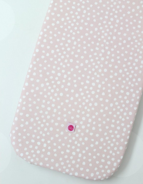 Perfect as a gender-neutral choice, the Spots On Pink Fitted Crib Sheet will fit any crib bed or next to me pods. This fitted cot sheet is a perfect addition to spruce up your little bub's nursery.