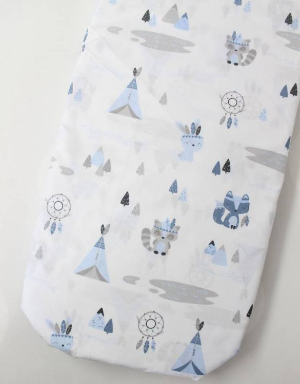 Perfect as a gender-neutral choice, the Teepee Fitted Crib Sheet will fit any crib bed or next to me pods. This fitted cot sheet is a perfect addition to spruce up your little bub's nursery.
