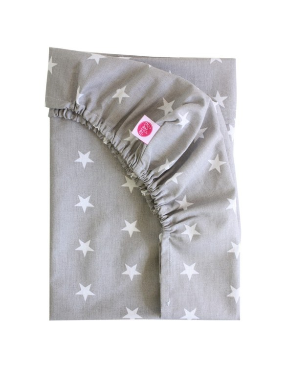 Perfect as a gender-neutral choice, the White Stars On Gray Fitted Crib Sheet will fit any crib bed or next to me pods. This fitted cot sheet is a perfect addition to spruce up your little bub's nursery.