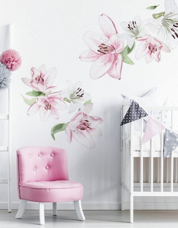 A beautiful scene for children's rooms and nurseries, the Little Lily Children's Wall Sticker is the perfect addition to any empty space (like walls or furniture). These wall stickers provide a flexible and cost-effective way to decorate your home.