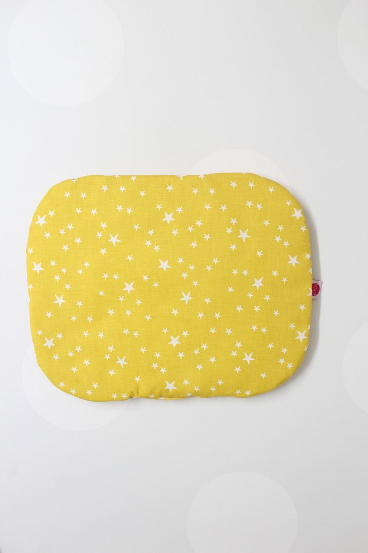 Mustard Stars Baby Flat Head Pillow