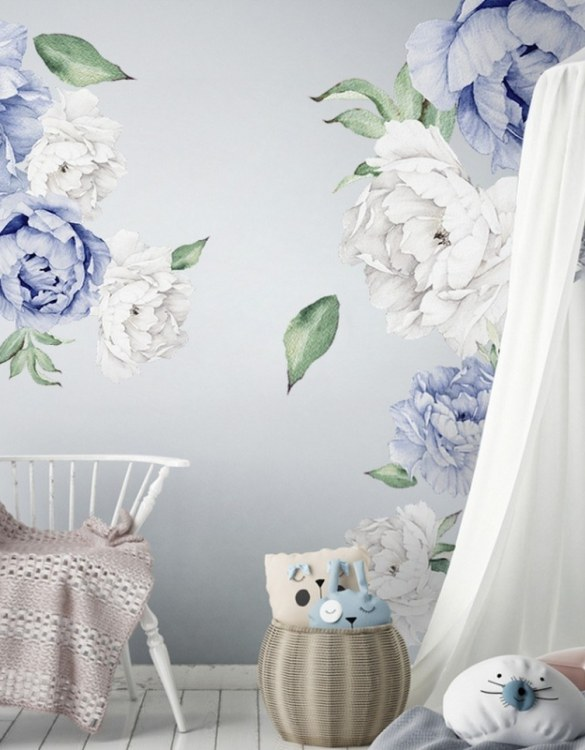 A beautiful scene for children's rooms and nurseries, the Navy Blue Peony Children's Wall Sticker is the perfect addition to any empty space (like walls or furniture). These wall stickers provide a flexible and cost-effective way to decorate your home.
