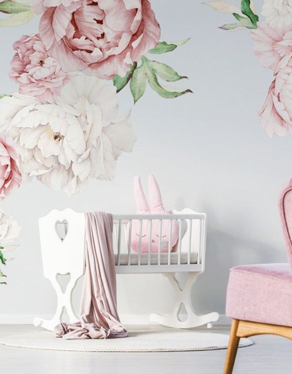 A beautiful scene for children's rooms and nurseries, the Pastel Peony Children's Wall Sticker is the perfect addition to any empty space (like walls or furniture). These wall stickers provide a flexible and cost-effective way to decorate your home.
