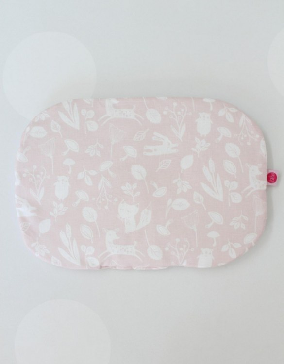 Beautifully soft and cuddly, the Pastel Pink Forest Animals Baby Flat Head Pillow is an adorable gift for a baby shower and also for nursery or kids' room decoration. A child up to 2 years old should sleep on a flat pillow.