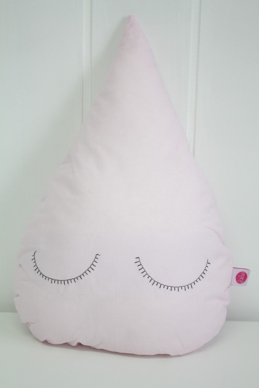 Pink Droplet Children's Cushion