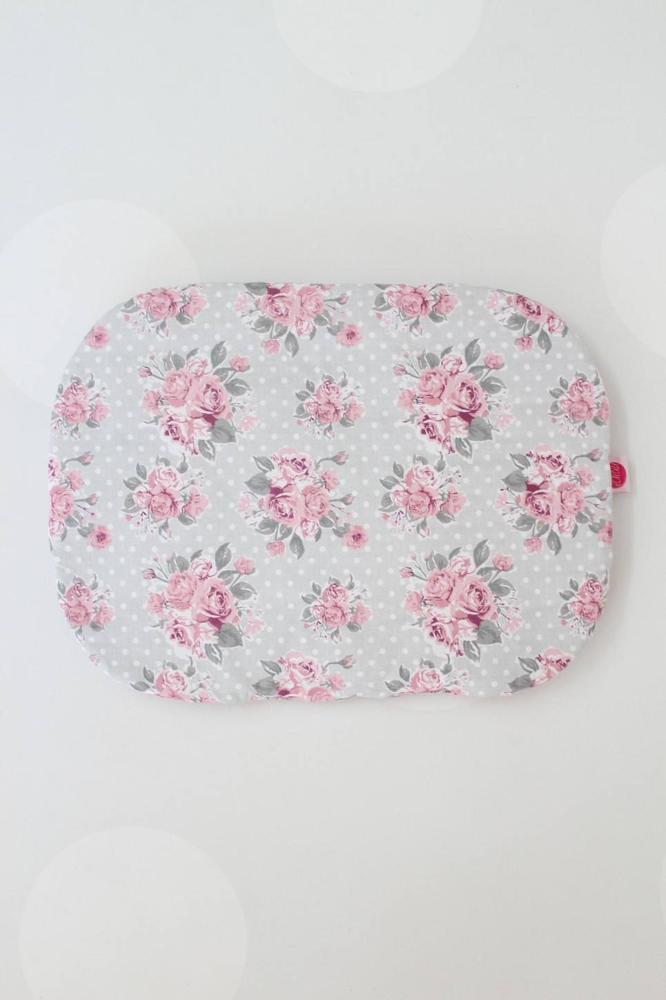 Pink On Mint Baby Flat Head Pillow