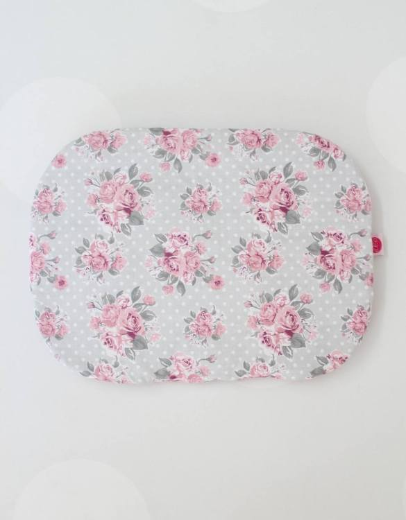 Beautifully soft and cuddly, the Pink On Mint Baby Flat Head Pillow is an adorable gift for a baby shower and also for nursery or kids' room decoration. A child up to 2 years old should sleep on a flat pillow.