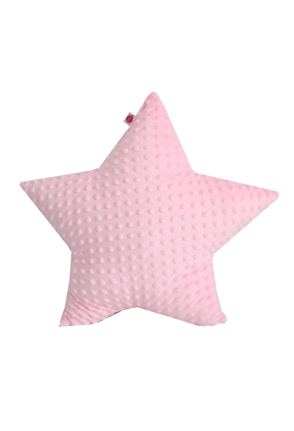 Pink Star Minky Children's Cushion