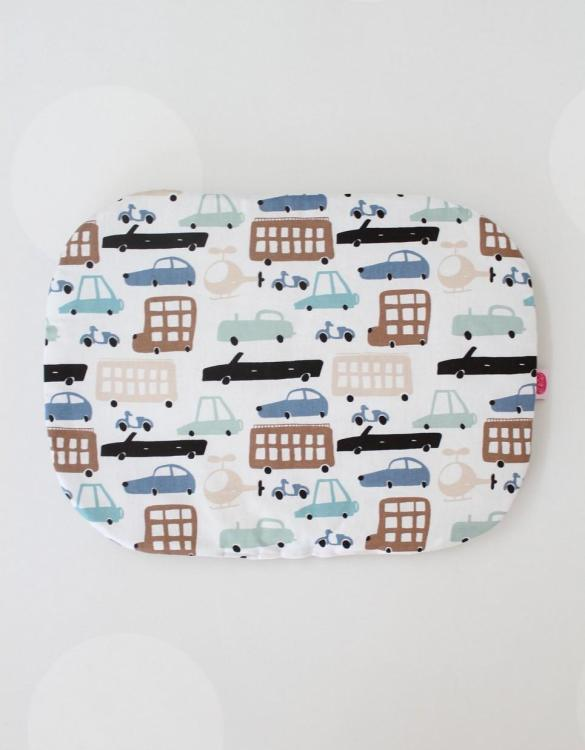 Beautifully soft and cuddly, the Retro Cars Baby Flat Head Pillow is an adorable gift for a baby shower and also for nursery or kids' room decoration. A child up to 2 years old should sleep on a flat pillow.