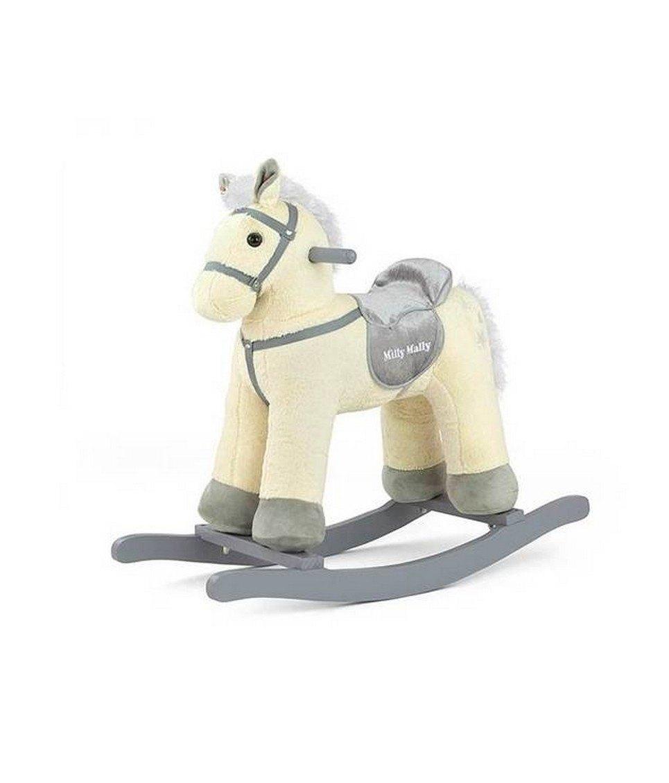Beige Plush Children's Rocking Horse